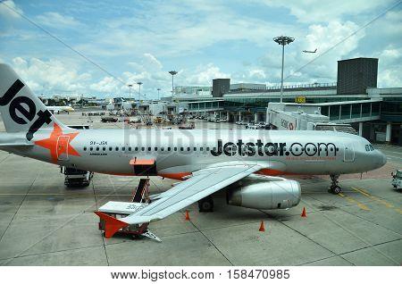 Jetstar Aircraft In Singapore Changi Airport