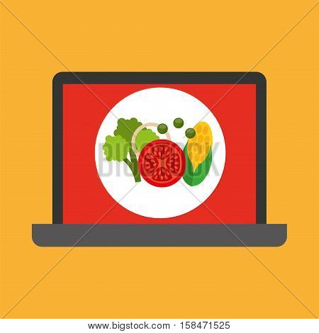 shopping online concept order organic food vector illustration eps 10