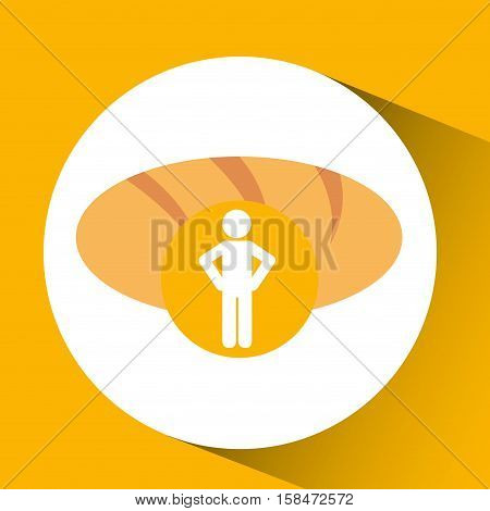 silhouette man bread nutrition bakery vector illustration eps 10
