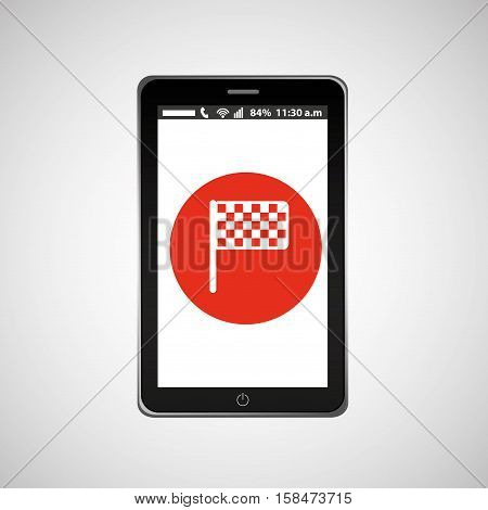 flag mobile phone navigation vector illustration eps 10