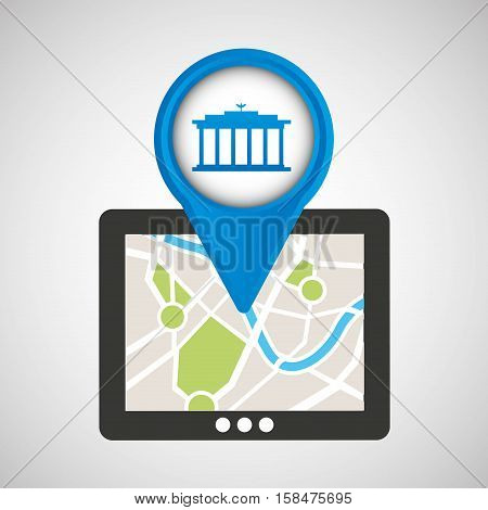 mobile device gps map vector illustration eps 10