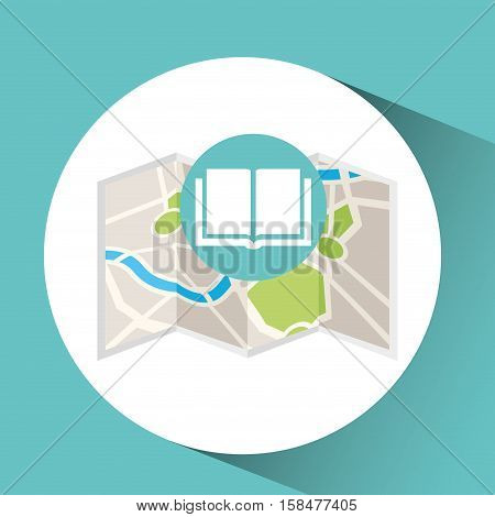 library map pin pointer design vector illustration eps 10