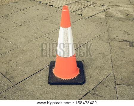 Vintage Looking Traffic Cone