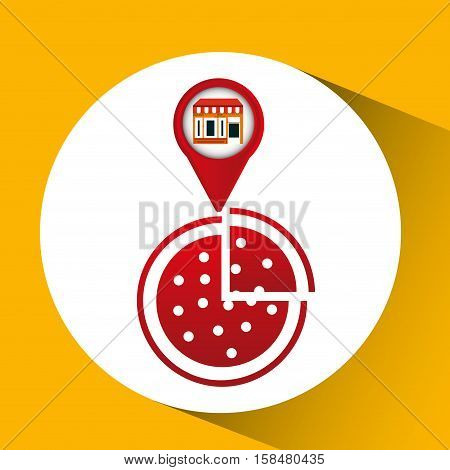 mobile phone pizza shop locater vector illustration eps 10