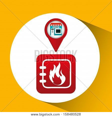 smartphone store app location vector illustration eps 10