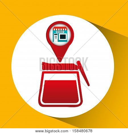 smartphone break store app location vector illustration eps 10