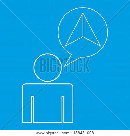 cursor locate destination icon silhouette man vector illustration eps 10