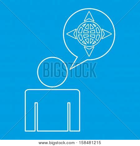 global locate destination icon silhouette man vector illustration eps 10