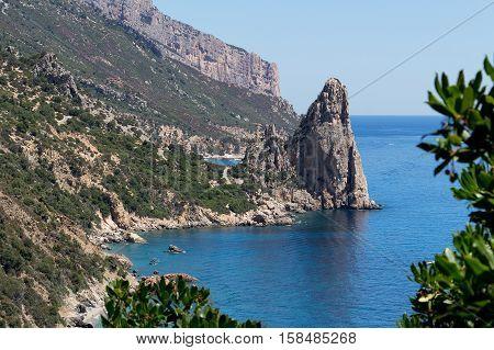 Beautifull view at Punta Pedra Longa in Sardinia