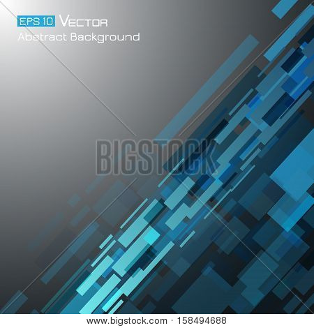 Abstract background with rectangles and dark blue color