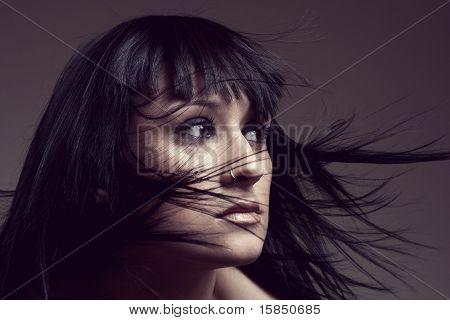 Girl Waving Hair