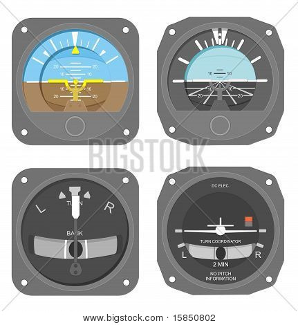 Aircraft instruments set #4