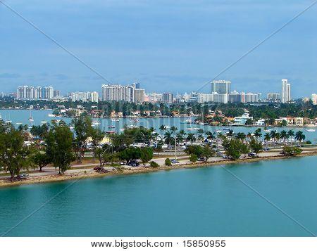 Eagle Eye View Of Miami Port