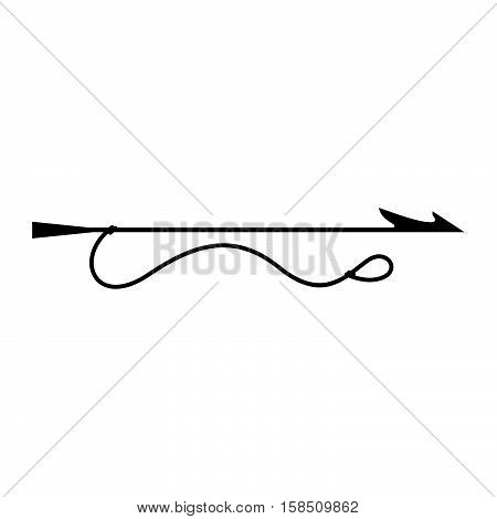 Harpoon ( shade picture ) on white background