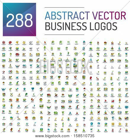 Abstract business logo mega collection, universal set poster