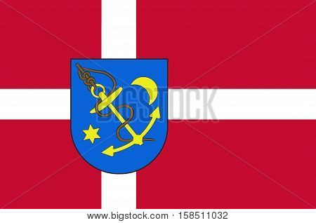 Flag of Struer in Central Jutland Region in Denmark
