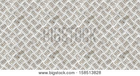 Wide Silver Metallic Floor Aluminum Industrial Textured Background
