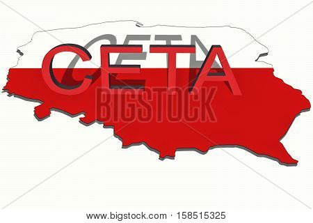 Ceta - Comprehensive Economic And Trade Agreement On  Poland Map