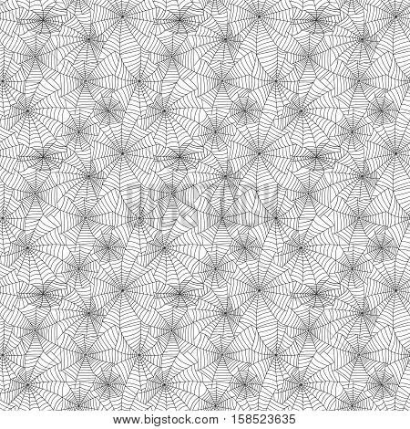 Spiders and spider web silhouette spooky nature element vector set. Cobweb decoration fear spooky spider web silhouette. Danger horror trap cobweb decoration spider web silhouette.
