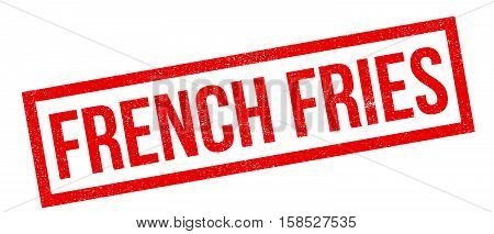 French Fries Rubber Stamp