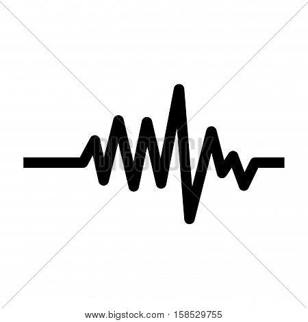 monochrome heart beat monitor pulse line vector illustration