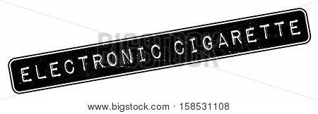 Electronic Cigarette Rubber Stamp