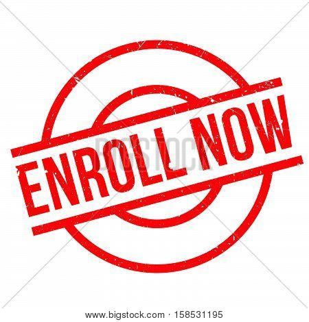 Enroll Now Rubber Stamp