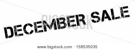 December Sale Rubber Stamp