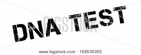 Dna Test Rubber Stamp