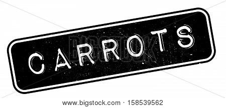 Carrots Rubber Stamp
