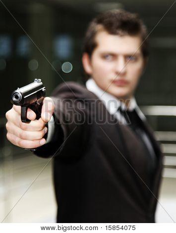 Businessman With Gun