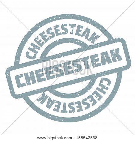 Cheesesteak Rubber Stamp