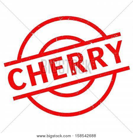 Cherry Rubber Stamp