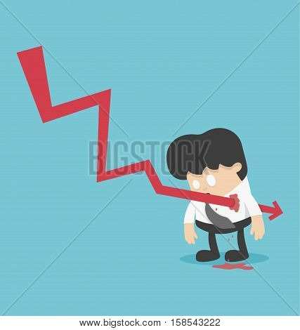 Concept graph stock falls or illustrations for business design and infographic