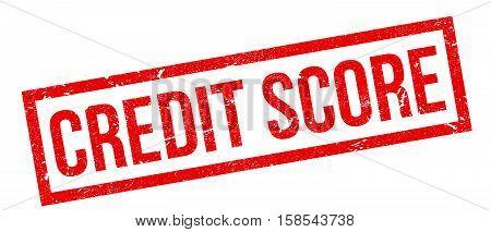 Credit Score Rubber Stamp