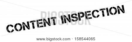 Content Inspection Rubber Stamp