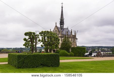 AMBOISE,FRANCE-JUNE 2016: View on the Amboise chapel
