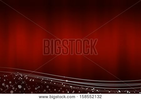 Abstract red background with the light lines at the bottom - illustration