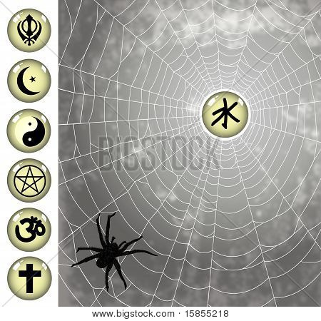 religion cought to the spider