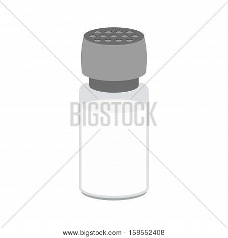 Salt Cellar Isolated. Accessory Caster. Cutlery To Eat On White Background