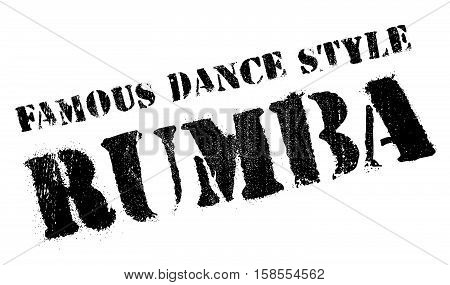 Famous Dance Style, Rumba Stamp