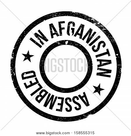 Assembled In Afganistan Rubber Stamp