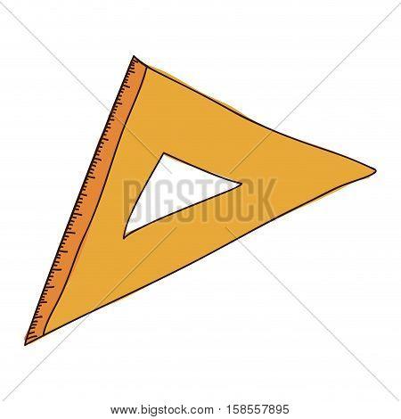 silhouette with orange squad ruler vector illustration