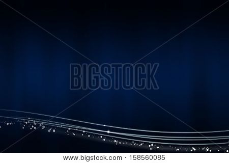 Abstract dark blue background with the light lines at the bottom - illustration
