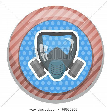 Respirator colorful icon. Vector illustration EPS 10