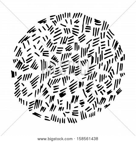 Pencil Doodle Template or Element. Hand Drawn Scribble Sketch Background