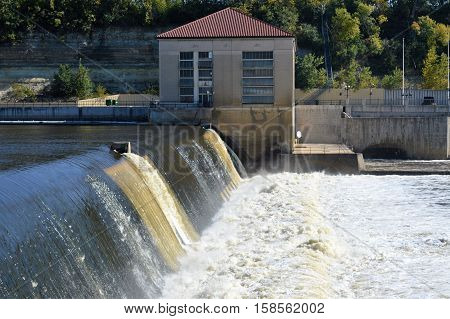The Ford Dam during summer in Minneapolis, Minnesota