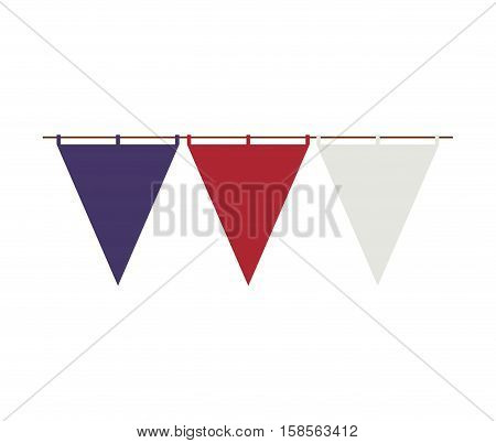 triangle festoon design in united states style vector illustration