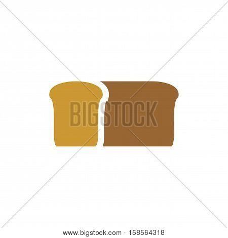 Bread Logo. Bakery Emblem. Loaf Of Soft Tack Sign
