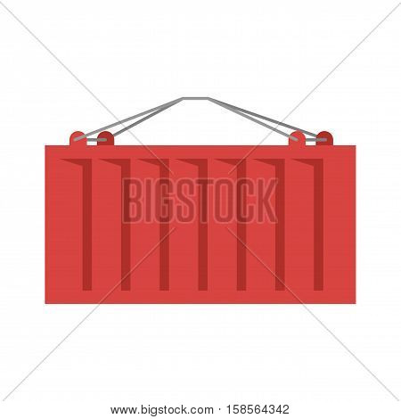 Cargo Container Red Isolated. Iso-container. Metal Box Intended For Carriage Of Goods By Road, Rail,